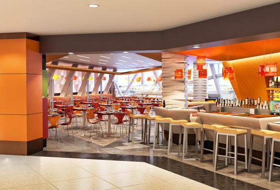 Airport Restaurant Zengos Interior DIA