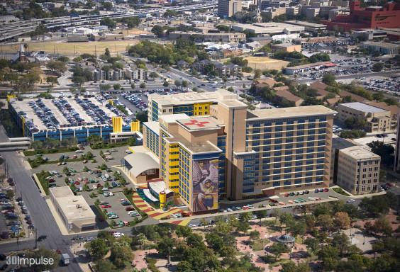 Childrens Hospital Renovation Aerial View